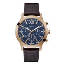 Vyriškas GUESS laikrodis su tamsiai mėlynu ciferblatu