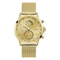 Aukso spalvos GUESS daugiafunkcinis vyriškas laikrodis