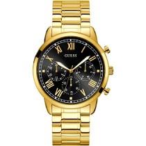 """Aukso spalvos vyriškas """"GUESS"""" laikrodis juodu ciferblatu"""