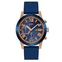 """Vyriškas mėlynas """"GUESS"""" laikrodis su aukso spalvos detalėmis"""