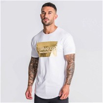 """Stilingi baltos spalvos """"Giannini Kavanagh"""" vyriški marškinėliai"""